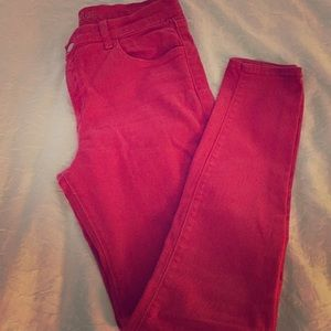 Red J brand skinny jeans just in time 4 Christmas
